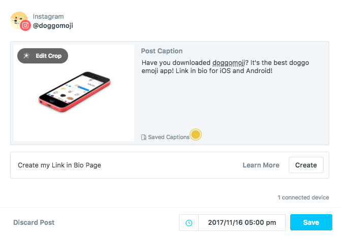 Facebook and instagram growth hacking the startup medium you can connect multiple social handles and add several team members after scheduling your media later sends a mobile notification for instagram posts ccuart Images