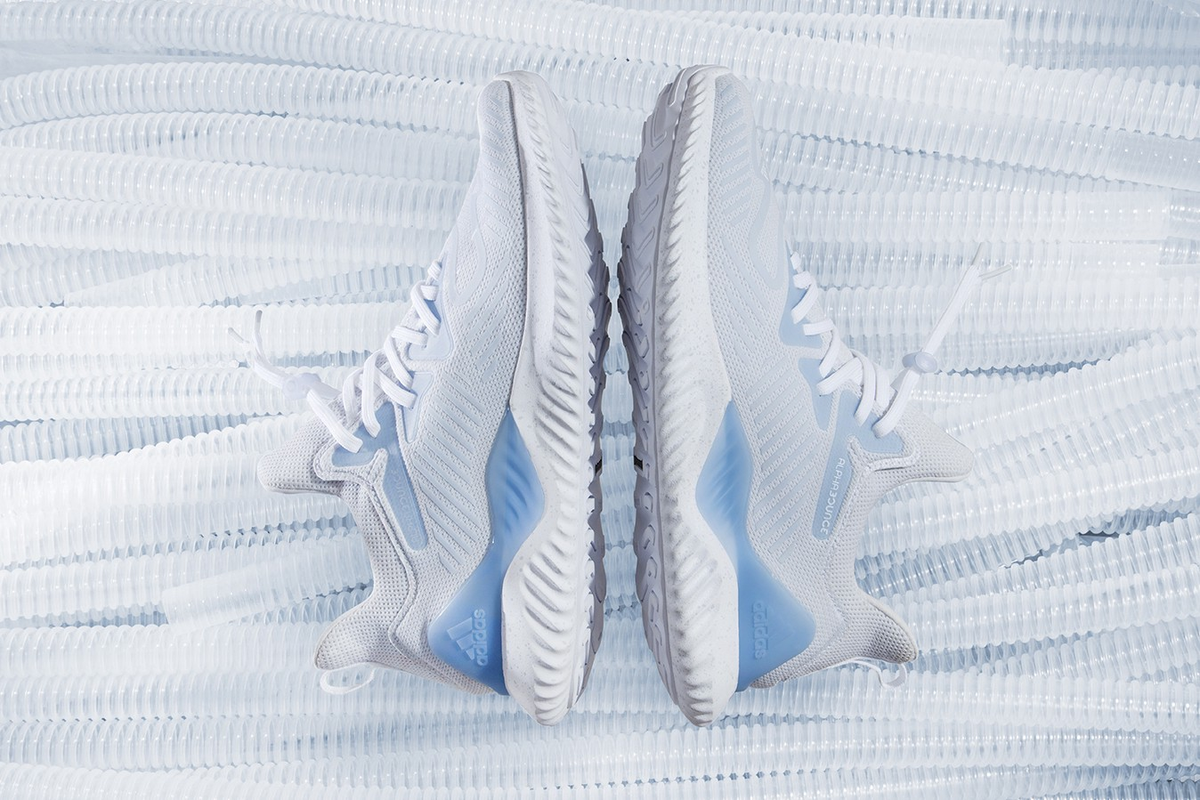 save off 84451 97efa adidas unveils the Alphabounce Beyond Extra Butter colorway exclusive, a  white and aero blue silhouette inspired by VO2 Max training.