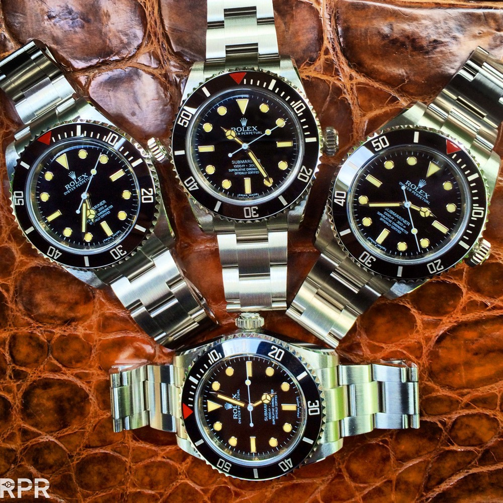 A gaggle of Rolex Submariners