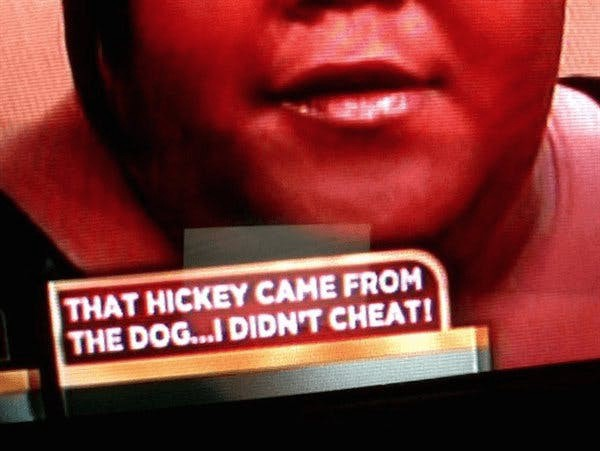 Hickey From Dog