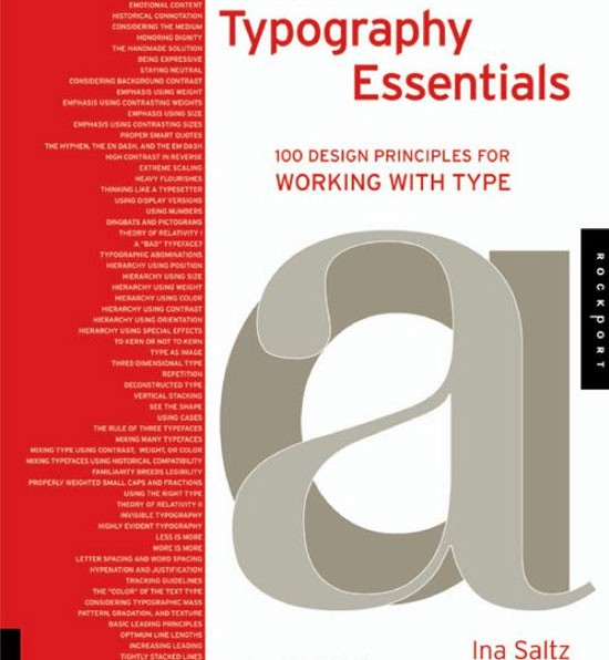 Typography Essentials: 100 Design Principles for Working with Type Book