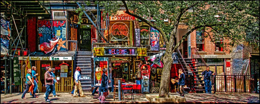 Now St Marks Place Is Por For Everyone In Nyc And Nyu Many Good Restaurants Cool Comic Hipsters Beautiful Nice Building