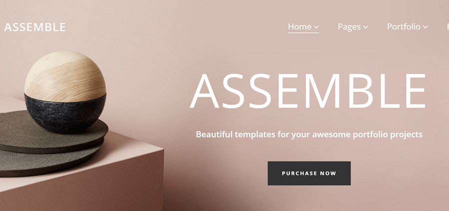 With Assemble You Can Choose From A Stunning Collection Of 18 Carefully  Designed And Distinct Examples, And Make Your Own Beloved Homepage Design.