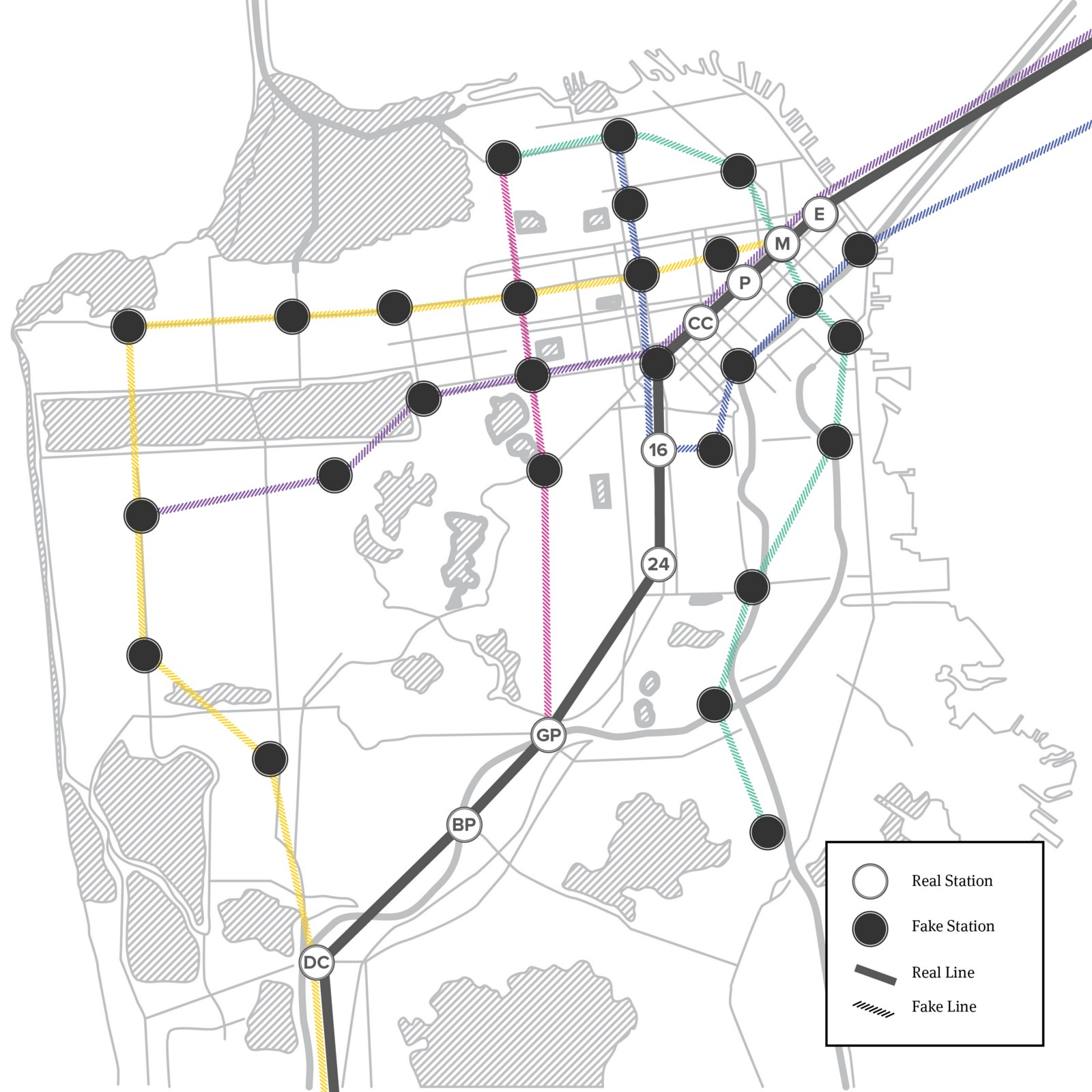 Bart San Francisco Map Stations.The Bart Map Of Our Dreams The Bold Italic San Francisco