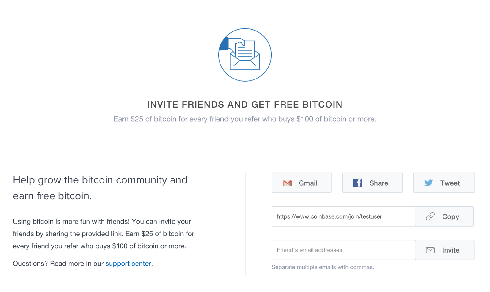 Coinbase launches 25 referral bonus the coinbase blog if youre an online marketer or just want to invite a few friends wed love to see what you can do with this take a look at our new and improved ccuart Image collections