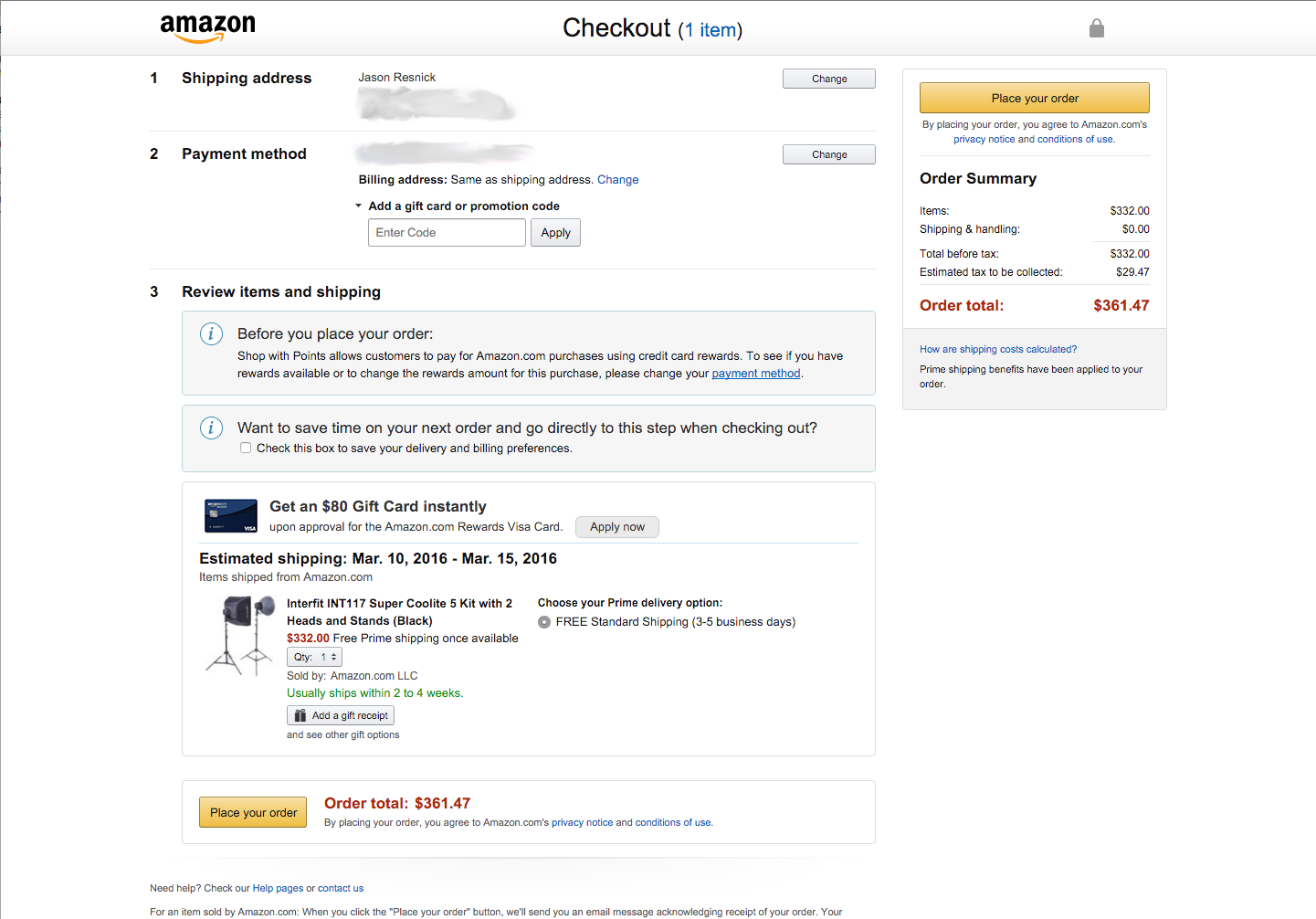 Why Amazon is doing a great job at checkout