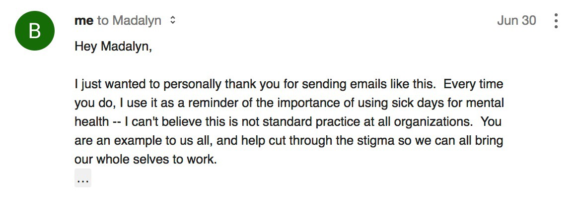 how to write email to boss for sick