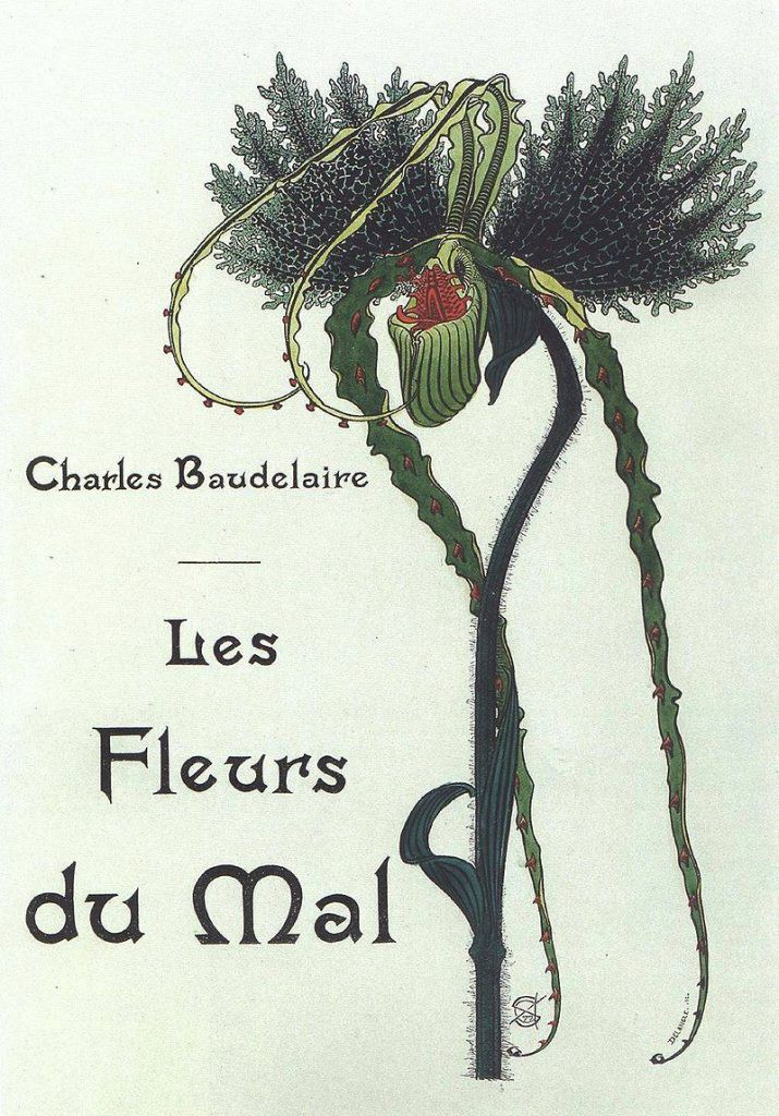 Illustraion of Les Fleurs du Mal by Carlos Schwabe, 1900