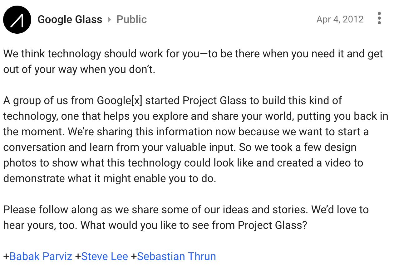 991da3a35b The Unexpected Rebirth of Google Glass – The Startup – Medium