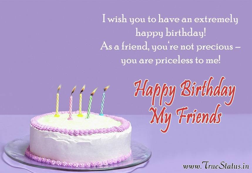 Happy Birthday Greeting Card For Friends