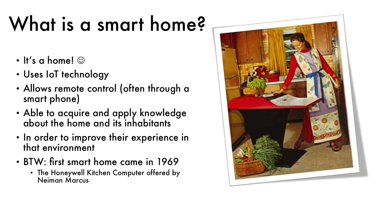 On privacy and security in smart homes iotap malm for Smart home technology definition