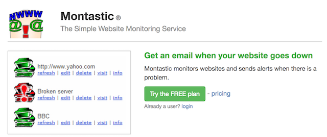 Website Monitoring Service Montastic
