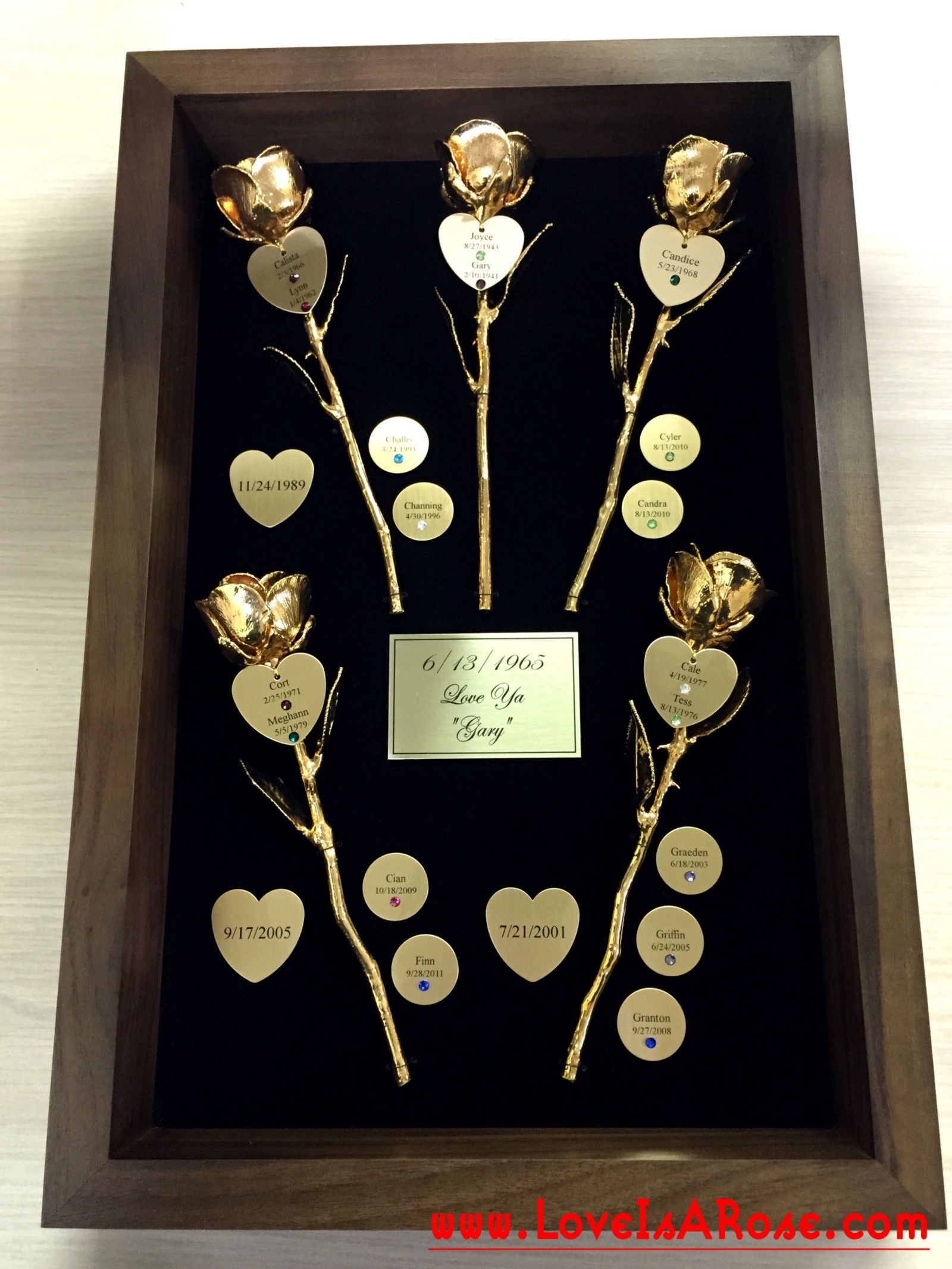 A customer from Colorado wanted something really special for his wife on their milestone anniversary of 50 years. So we created a Custom 5oth Anniversary ... & Gold Roses for Custom 50th Anniversary Gifts u2013 Love is a Rose u2013 Medium