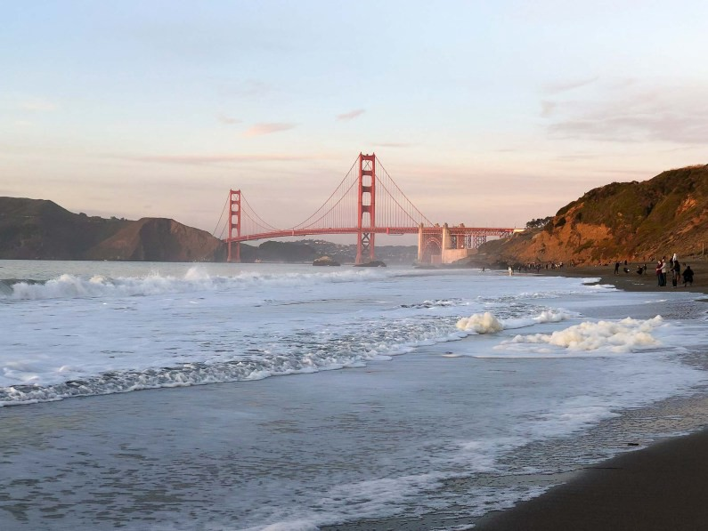 Bakers Beach and a view of the Golden Gate Bridge, Gems of San Francisco, USA -- gonewithawhim.com // Postcards from San Francisco, California
