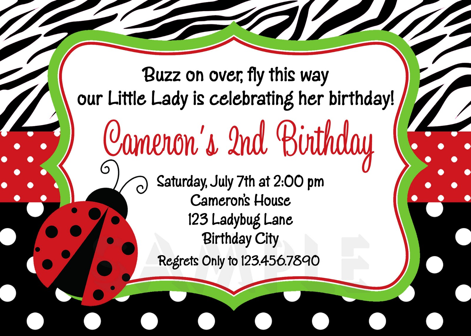 Ladybug Baby Shower Invitations Ideas