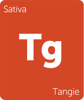 Leafly Tangie cannabis strain tile