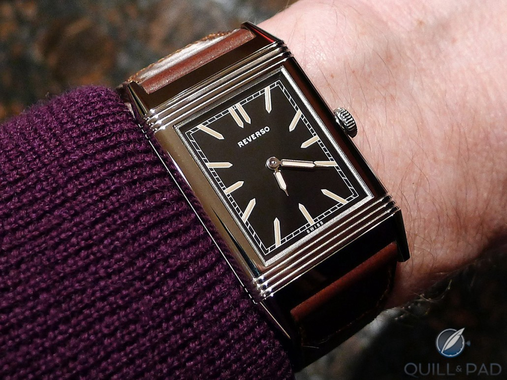 The Jaeger-LeCoultre Tribute to Reverso 1931 on the author's wrist