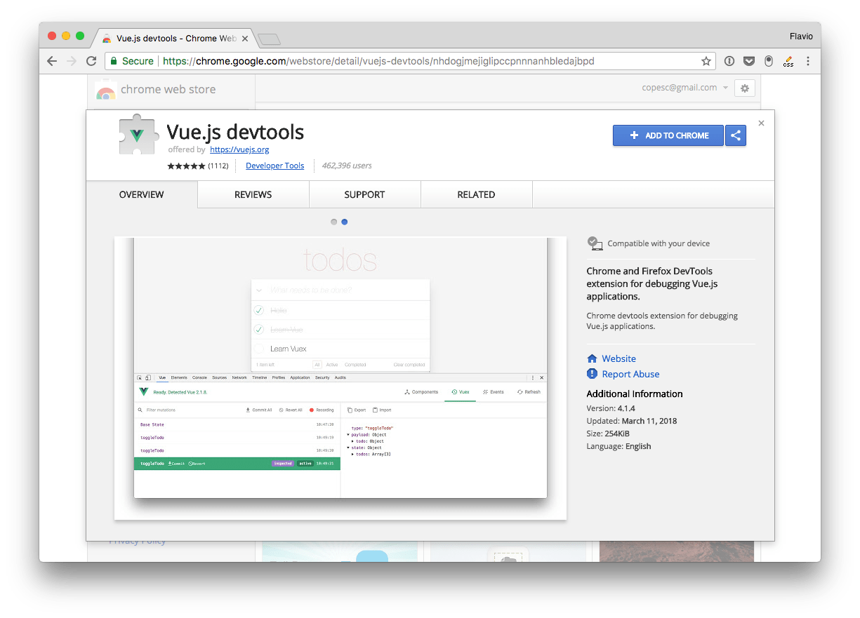 How to use the Vue.js DevTools