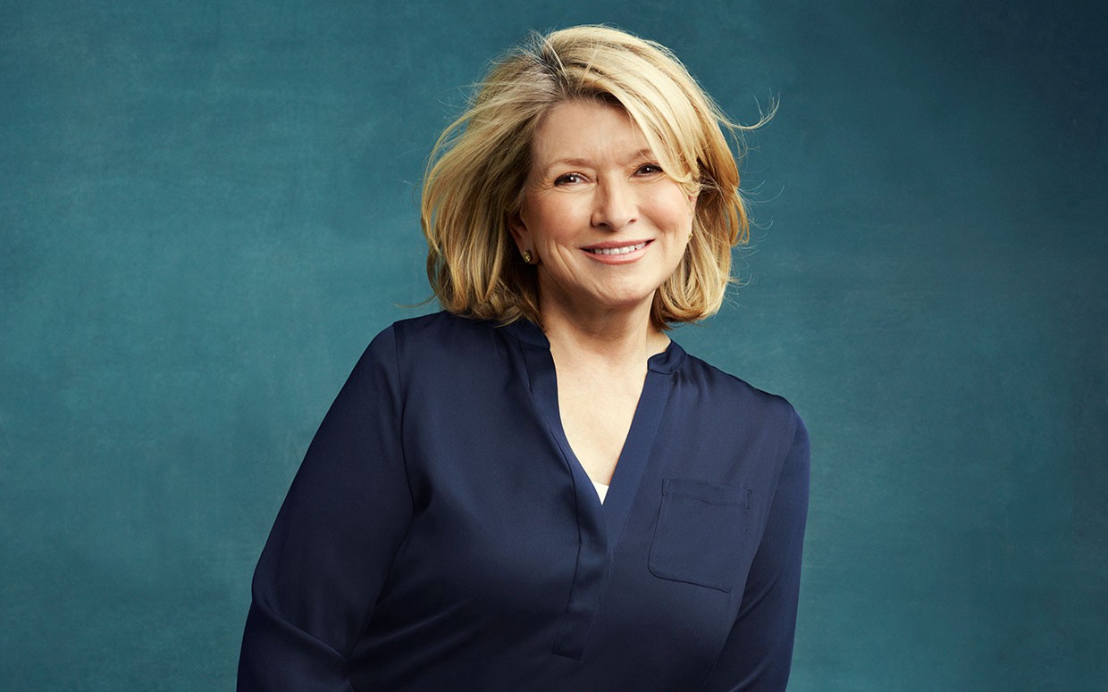 Martha Stewart became globally famous for her cooking in her 40's