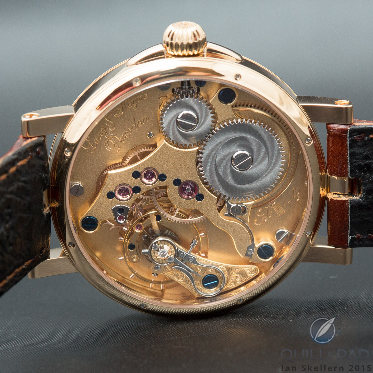 The movement of Lang & Heyne's König Johann von Sachsen Champlevé is as beautiful as the dial