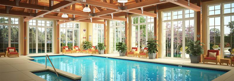 Building Retirement Homes, Part 2- Designing to Stand Out - Carolina Bay pool