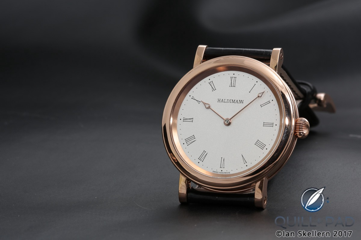 Beat Haldimann H11 with white dial in red gold