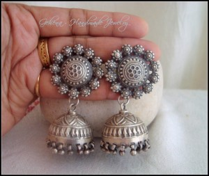 Pure Silver 92.5 Jhumkis, 36gms INR 4700