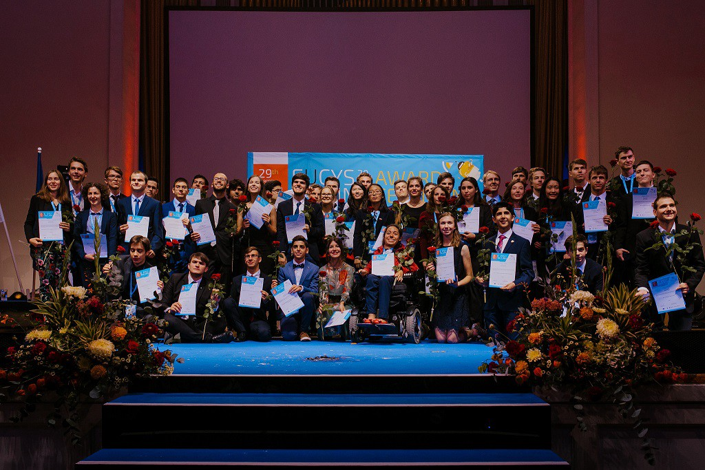 50 prizes were awarded to the best projects during the ceremony. Image credit - European Union, EUCYS 2017
