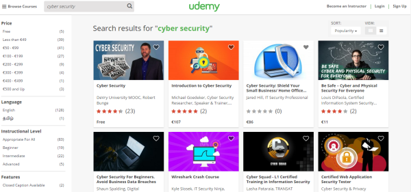 50 cyber security online courses you should know about