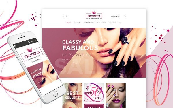 Nail Care Products Magento Theme