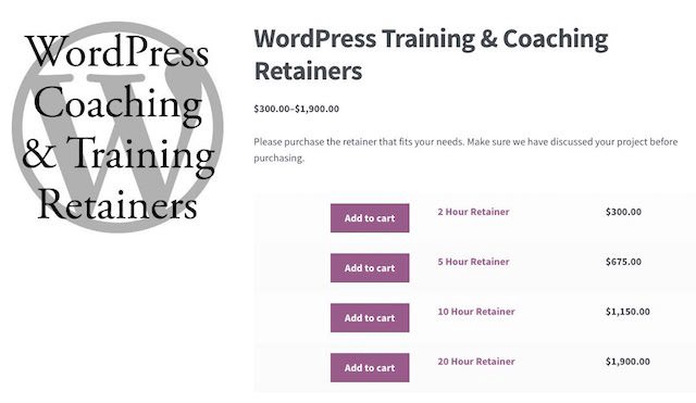 online payments woocommerce-retainer