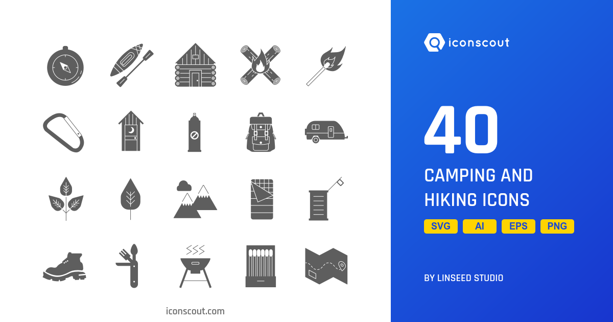 Camping And Hiking icons by Linseed Studio