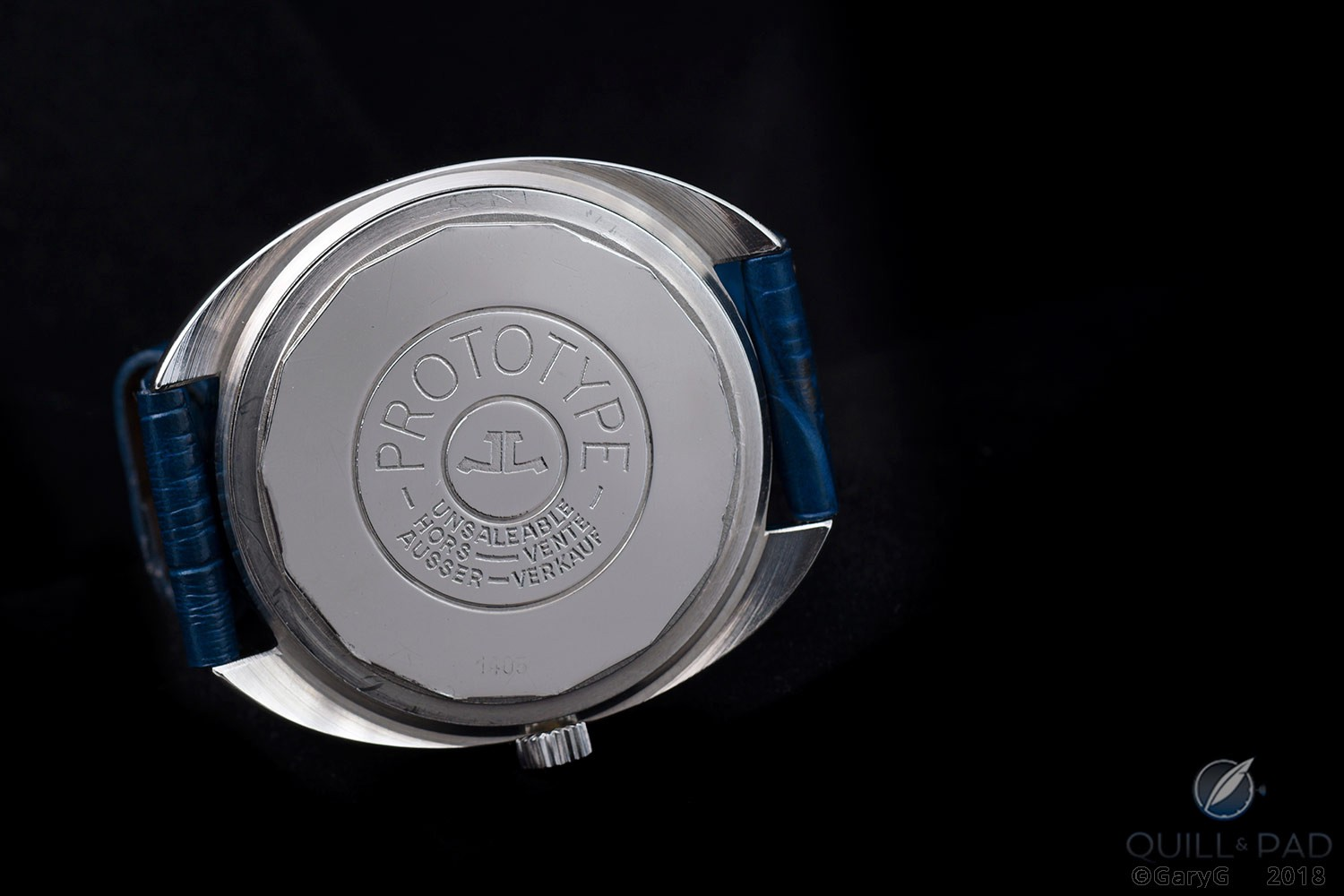 Not to be sold! Difficult-to-ignore warning on the Jaeger-LeCoultre Caliber 906 prototype