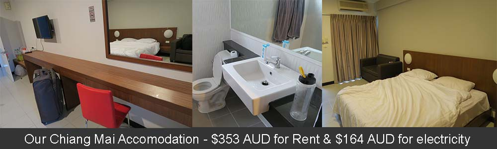 Our accommodation costs in Chiang Mai