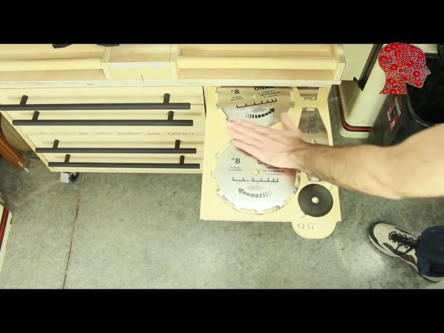 Woodworking # 7 – Table Saw Accessories Cabinet – WoodWork