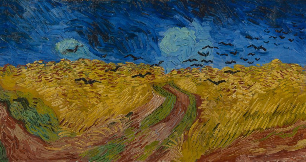 Wheatfield with Crows Vincent van Gogh, 1890
