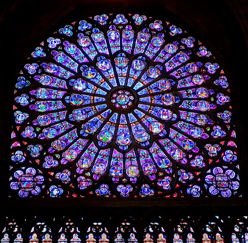 Rose window Notre-Dame Cathedral
