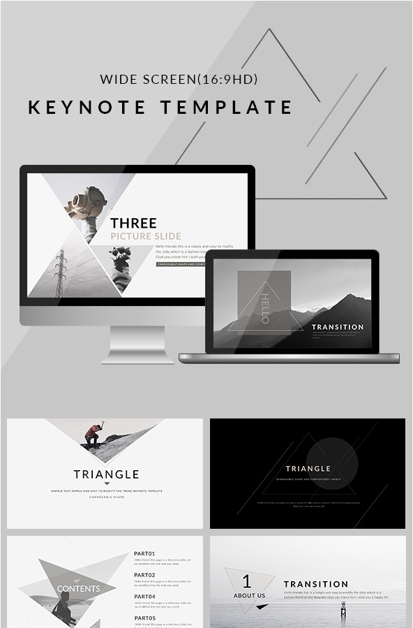 10 best keynote templates best digital themes medium triangle is a creative business keynote template best way to present your works wajeb Choice Image