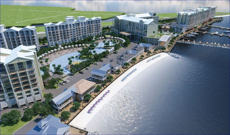 A company rendering of the new Sunseeker Resort backed by Allegiant in Punta Gorda, Florida