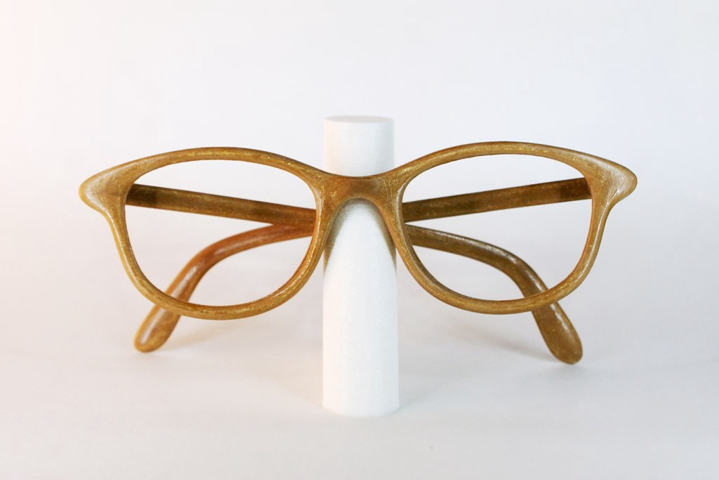 3d printed wooden eyeglasses frame frontal view helder santos it was printed using fiber force woodforce filament in an ultimaker 2 and of course modeled - Wooden Eyeglass Frames