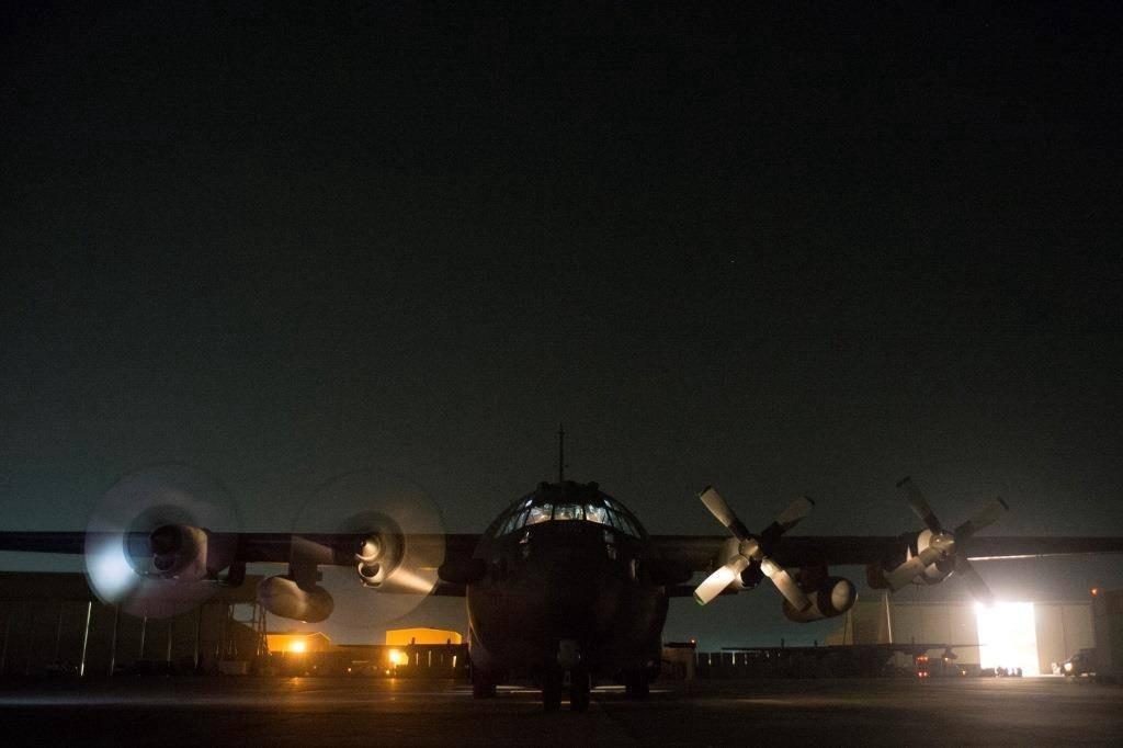 The crew of a U.S. Air Force AC-130H Spectre gunship from the 16th Expeditionary Special Operations Squadron prepare to conduct a close air support mission in support of special operations ground forces Nov. 27, 2013, at an undisclosed location in Afghanistan. The AC-130H and its crew are deployed from the 16th Special Operations Squadron, Cannon Air Force Base, N.M. (U.S. Air Force photo by Tech. Sgt. Jason Robertson/Released)