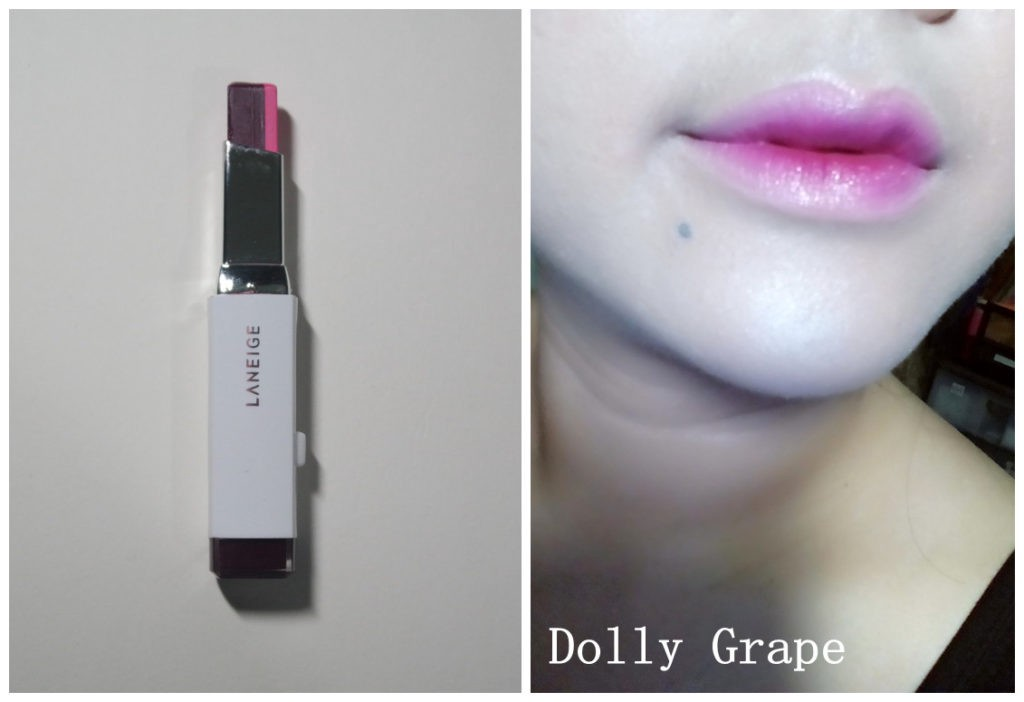 laneige two tone lip bar review - Dolly grape