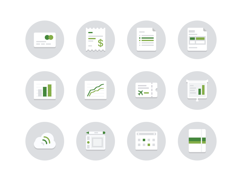 Finance icons by Lester Gonzales