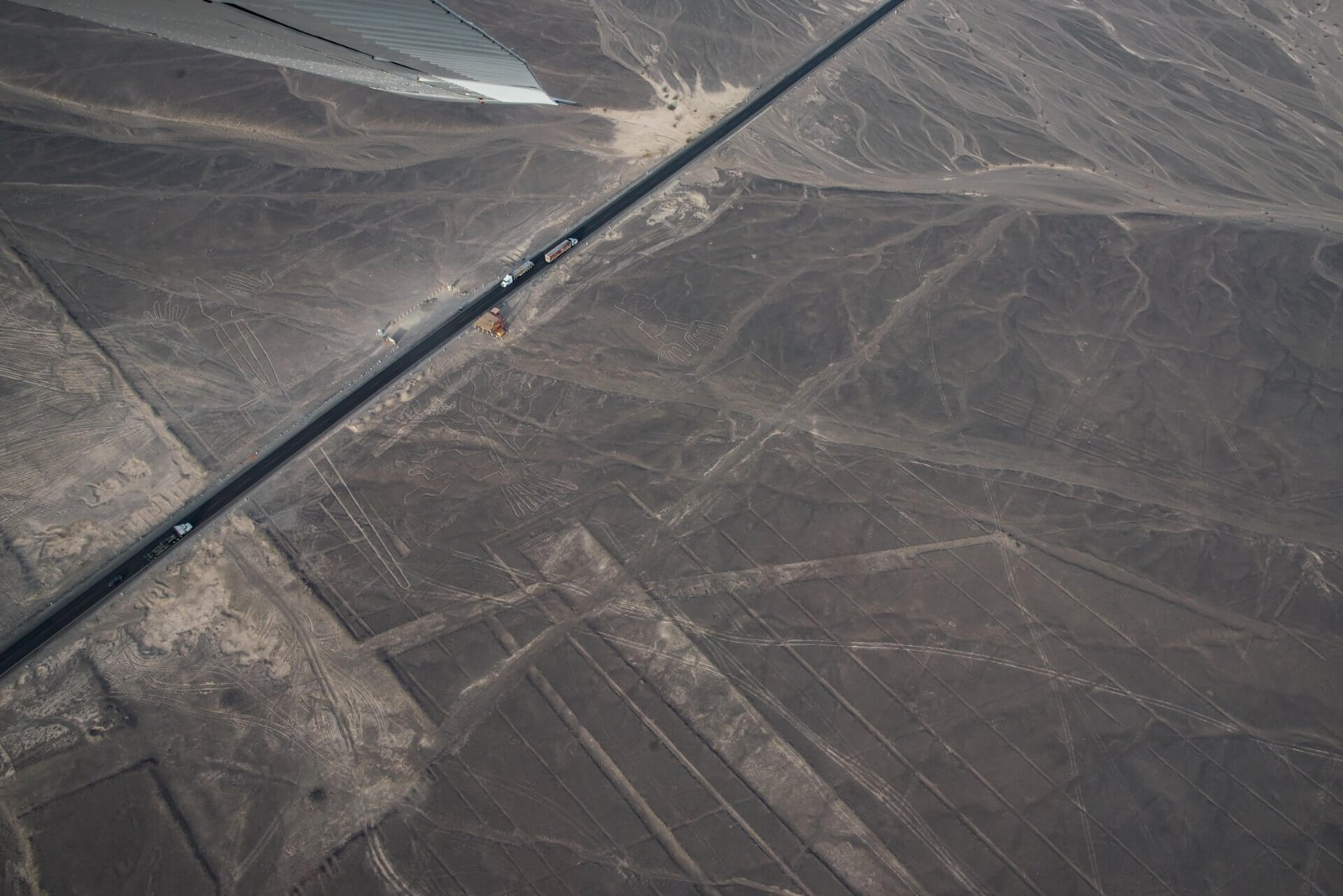 Nazca lines from Cessna small plane in Peru