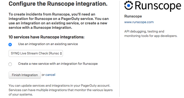 Runscope screenshot
