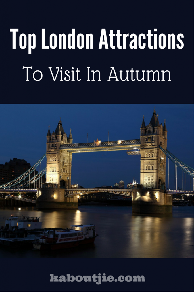 Top London attractions pin