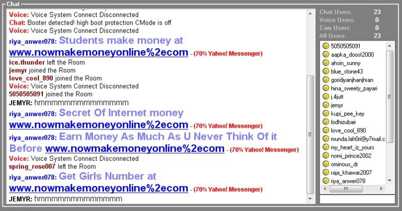 Myspace yahoo im sex chat