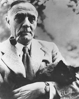 Edwin Hubble and cat