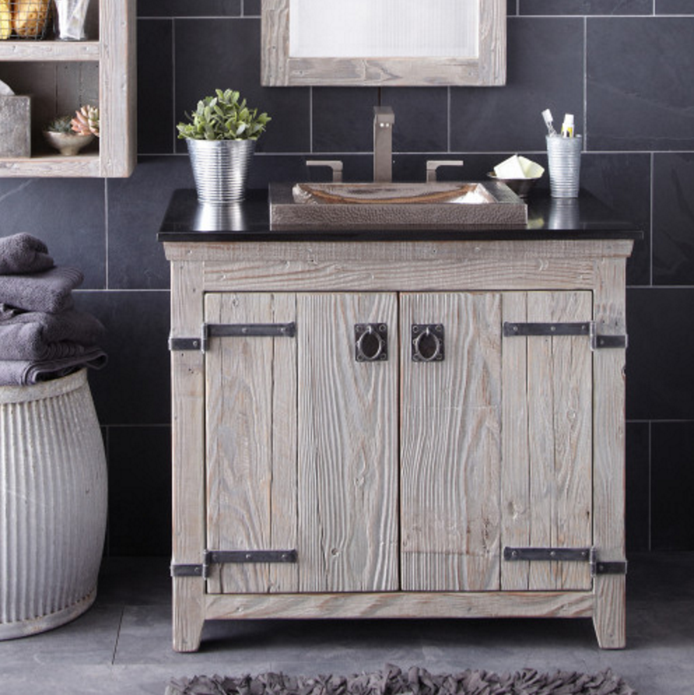 Quality bathroom vanity - Handcrafted By American Artisans From Reclaimed Barn Wood Each Native Trails Vanity Has A Character As Rich As Its History