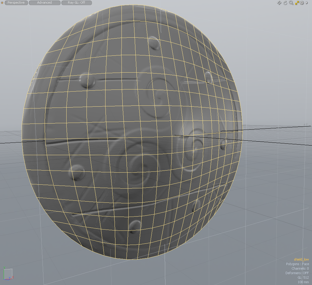 Mid Poly Mesh with Normal Map